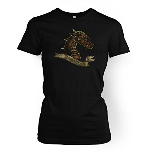 Price comparison product image Bronze Dragonslayer Womens T-shirt - Black Large (approx Size 12)