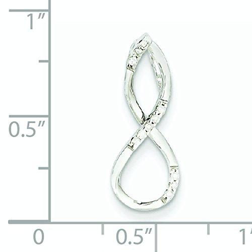 Or blanc 14carats Diamant brut Pendentif