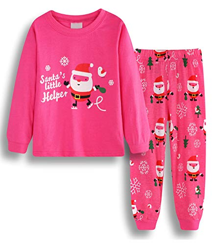 lymanchi Little Girls' Christmas Pajamas set Long Sleeve Cotton Set Children PJS 909717 -
