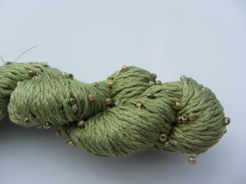 Louisa Harding Mulberry Hand Beaded Silk Yarn 31 Sprout