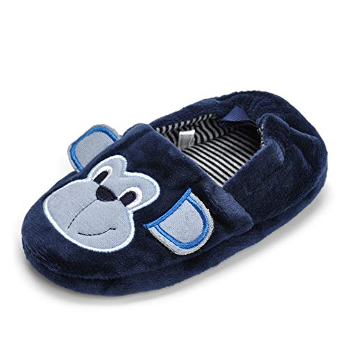 Csfry Toddler Boy's Moneky Winter Home Slippers US 5-6 Navy