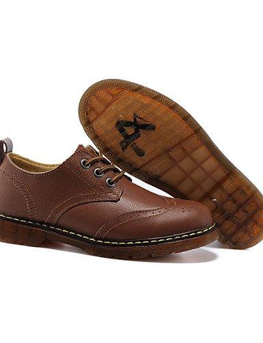 Brown Plat Richelieu us5 Chaussures Décontracté Blanc Noir 5 Confort Extérieure Talon Cuir 5 Uk3 Marron Femme Cn35 Njx Eu36 7qOvx8q
