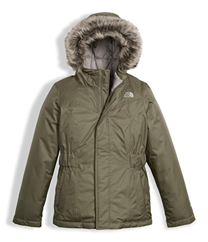 The North Face Girls Greenland Down Parka Burnt Olive Green (Large) by The North Face