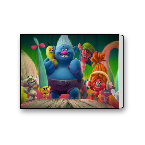 Dreamworks Trolls  Stretched Canvas Bedroom Wall Art