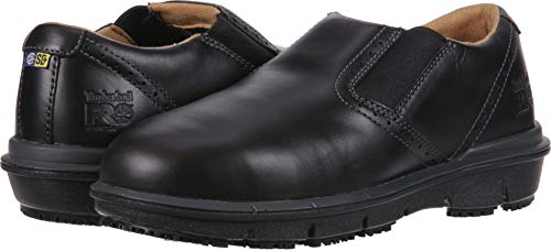 Timberland PRO Men's Boldon Slip On Alloy Toe SD+ Industrial Shoe Black Full Grain Leather 10 M US ()