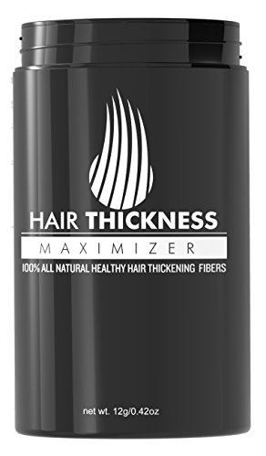 Hair Thickness Maximizer - Safer Than Keratin Hair Building Fibers With 2nd Gen All Natural Plant Based Hair Loss Concealing Fillers For Instant Thickening of Thinning or Balding Hair (Dark (Black Light Hairspray)