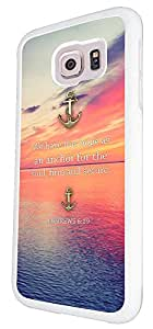 """262 - Christian Quote we have this hope as anchor for the soul,firm and secure """"Design For Samsung Galaxy S6 i9700 Fashion Trend CASE Back COVER Plastic&Thin Metal"""
