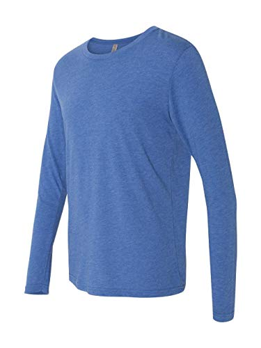 Next Level Men's Performance Blended Long Sleeve Jersey, Small, Vintage Royal - Knit Sport Shirt Blended Jersey
