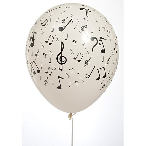 Musical Notes 11 Inch Balloons Package of 100 Party Supplies Decorations ()