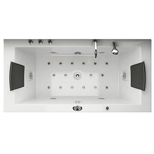Jet-Line Whirlpool Vasca da bagno Villa Eugenie II LED speciale modello alle bocchette illuminato Vasca da bagno di lusso Spa