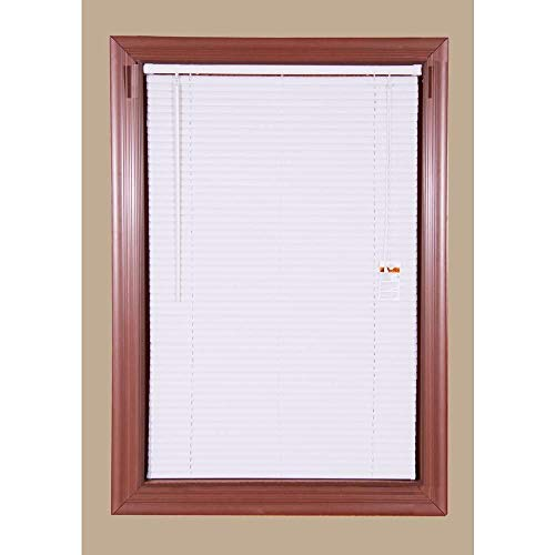 Economy Vinyl Mini Blinds White - 6 Pack- 29 in. W x 64 in. L (Actual Size 28.5 in. W)
