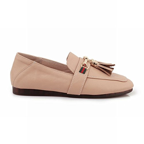 Mee Shoes Women's Chic Slip On Flat Court Shoes Pink NP15dXNa