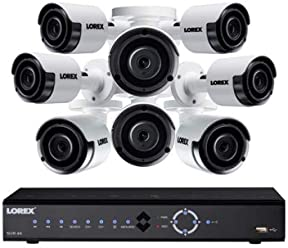 Lorex LNK71082T85B 8-Channel 4K 2TB PoE NVR with 8 5-Megapixel Color Night