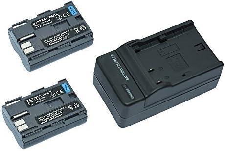 Mondpalast @ 2X Reemplazo Li-ion batería BP511 BP-511 BP-511A BP-512 BP-514 BP-508 BP-522 BP-535 1700 mAh 7.4V + cargador para Canon EOS 10D 20D 20Da 300D 30D 5D 30D 60D 40D PowerShot G1 G2 G3 G5 G6 Pro1 Pro90 Pro90 IS