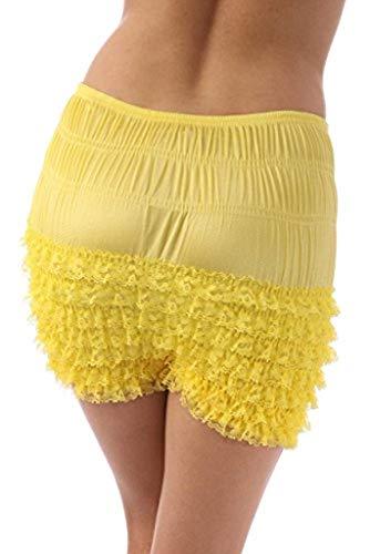 Malco Modes Womens Sexy Ruffle Panties Tanga Dance Bloomers Sissy Booty Shorts (XX-Large, -