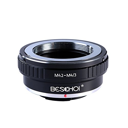 Beschoi M42 Screw Mount Lens to Micro 4/3 Four Thirds System Camera Mount Adapter, fits Olympus Pen E-P1 P2 P3 P5 E-PL1 PL1s PL2 PL3 PL5 PL6 E-PM1 PM2 OM-D E-M5 E-M1 Panasonic Lumix DMC-GH1 GH2
