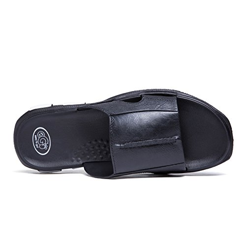 45eu color Zapatos Deslizamiento Hombre Tamaño El shoes Size Piscina Informal Slipper 44eu Brown Black Para Hombre Juans De Hasta O65Rq