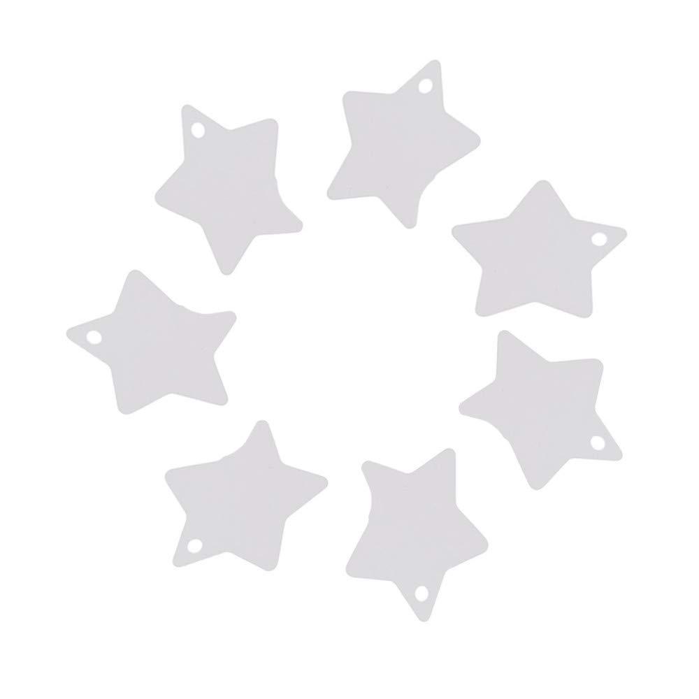 Ogquaton /Etichette regalo in carta kraft a forma di stella 100 pezzi bianche pratiche e popolari