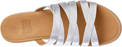 Slide Silver Lumy Women's Leather fitflop BHYqf