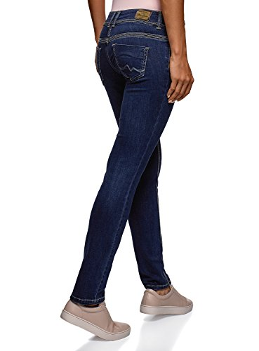 Media Jeans Fit Donna 7500w Vita Slim Ultra A Blu Oodji Zn1q07Iq