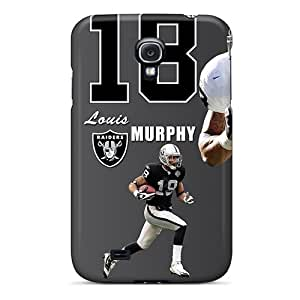 Tpu Case Cover For Galaxy S4 Strong Protect Case - Oakland Raiders Design