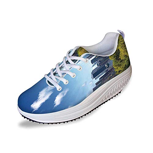 City Stylish Shake Shoes,Manhattan Skyline with Central Park in New York City Midtown High Rise Buildings for Women,7