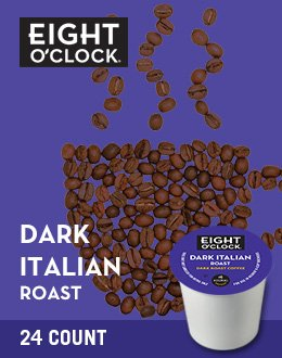 Eight O'Clock Coffee Dark Italian Roast K-Cups by Eight O'Clock Coffee