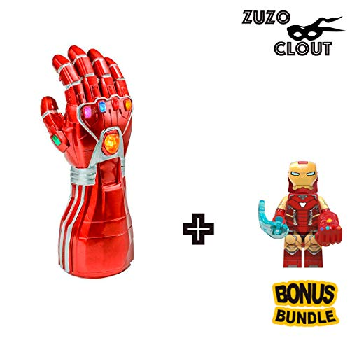 Latex Superhero Costume (ZuzuClout - Premium Unisex Infinity War Superhero Gauntlet Glove Costume Latex for Halloween Cosplay Game)