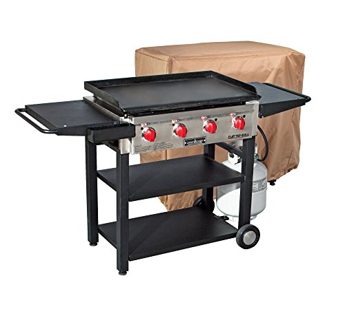 Camp Chef Flat Top Grill 600 with Patio Cover – Bundle