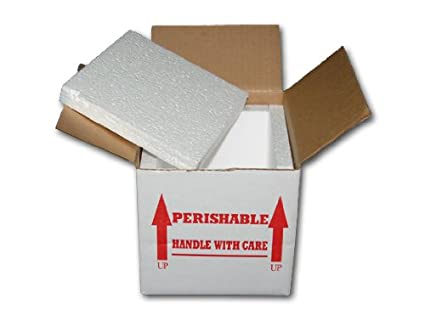 e3ab6d00a3aa 7X7X6 INSULATED SHIPPING BOX W/ 3/4 FOAM (15 PACK)
