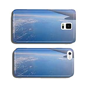 Aerial view of the United Kingdom and the sea from an airplane cell phone cover case iPhone6 Plus