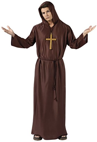 [Monk Costume - Adult Costume] (Brown Monk Robe Costume)
