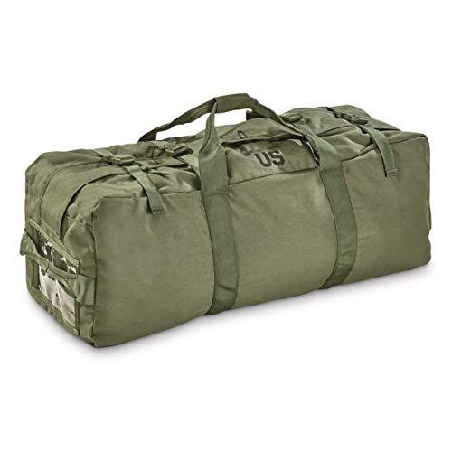 Surplus U.S. Military Zip Duffel Bag, Like New, Olive Drab