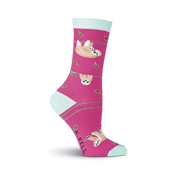 K. Bell Socks Women'S Zoo Animals Crew -