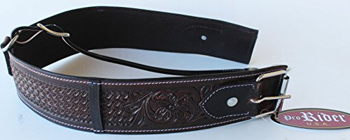 PRORIDER Horse Leather Handmade Western Back Cinch Girth Flank Saddle Tack -