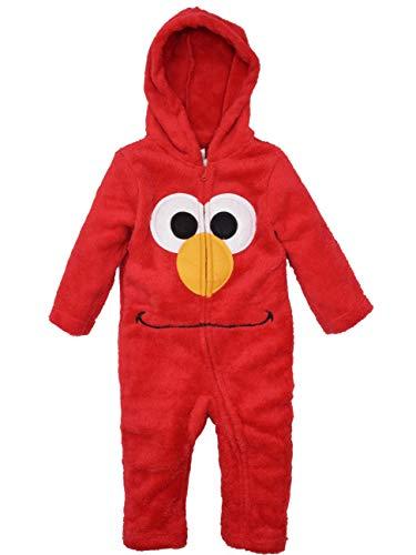 Sesame Street Elmo Infant Baby Boys' Zip-Up Hooded Costume Coverall, 18M