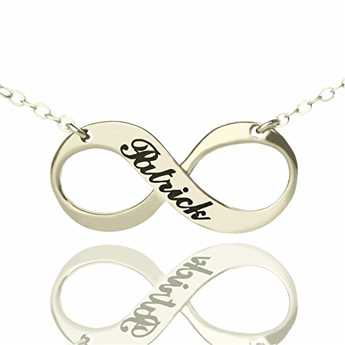 Personalized Necklaces Custom Infinity Necklace Pendant Christmas Gift Valentines Gift(gold-plated-base 14