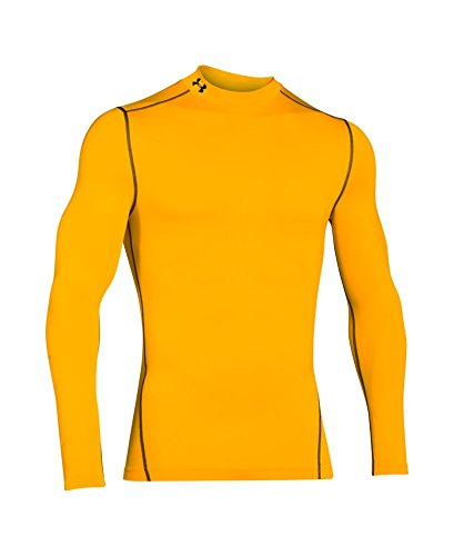 Under Armour Men's ColdGear Armour Compression Mock Long Sleeve Shirt, Steeltown Gold /Black, XXX-Large by Under Armour (Image #3)