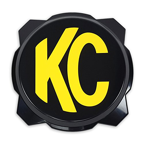 KC HiLiTES 5111 Black Hard Cover with Yellow KC Logo for Pro6 Light (ea)