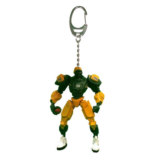 NFL Green Bay Packers Fox Sports Team Robot Key Chain, 3-inches