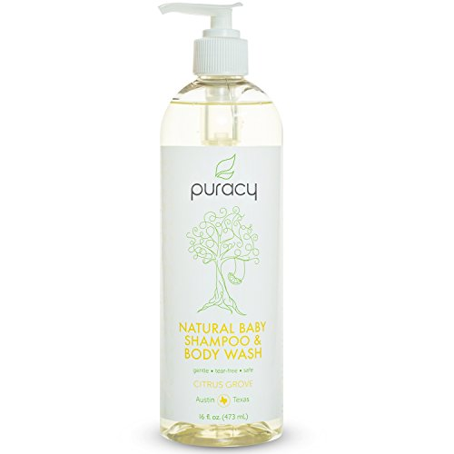 Price comparison product image Puracy Natural Baby Shampoo & Body Wash - Sulfate-Free - THE BEST Bubble Bath - Developed By Doctors for Children of All Ages - Gentle - Tear-Free - Hypoallergenic - 16 ounce bottle