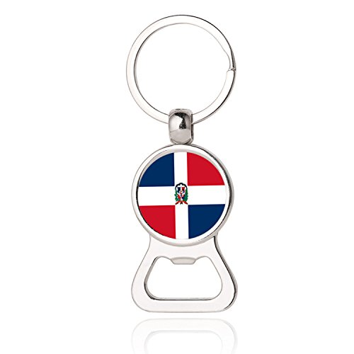 Dominican Republic Models (The Dominican Republic National Flag Photo Printing Bottle Opener Keychain, Dominican National Flag Photo Dome Bottle Opener,Photo Dome Jewelry,Gift,Bottle Opener Key Chain,Promotional Items)