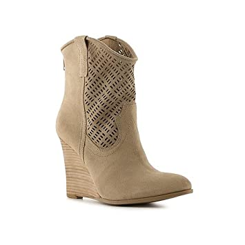 00c629229ebc Amazon.com  Crown Vintage Iris Wedge Bootie - 7 Beige  Health ...