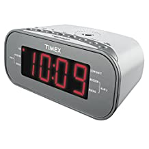 Sound Design Timex T231W2 AM/FM Dual Alarm Clock Radio with 1.2-Inch Green Display and Line-In Jack (White)