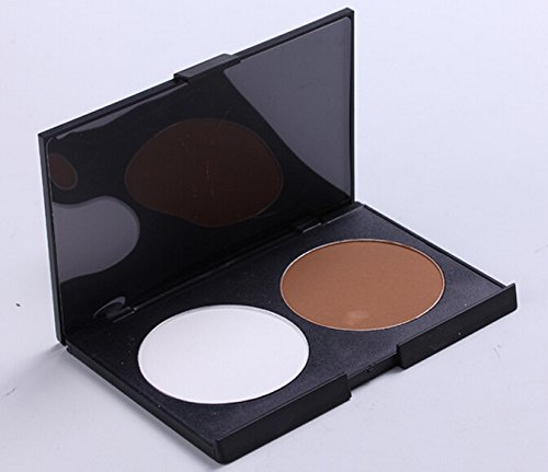 2 color the repair capacity plate trimming powder Makeup Palette white and coffee color