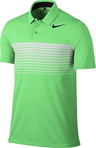 Stripe Golf Polo 2017 Electro Green/Black Small ()