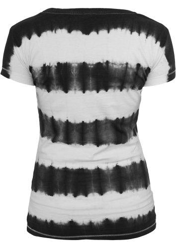 Urban Classics - Camiseta - Manga corta - para mujer Blk/Wht