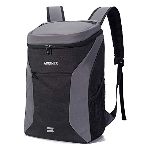 ADRIMER Backpack Cooler Insulated Leakproof Lightweight Cooler Backpack Bag for Men Women to Picnics, Hiking, Fishing, Beach, Day Trip, 30 Cans