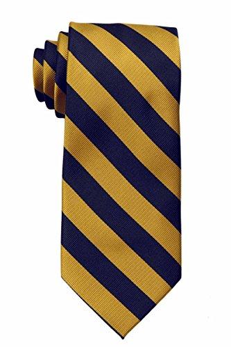 JCS-ADF-1-7 - Men's College Repp Stripe Print Striped Necktie Ties ()