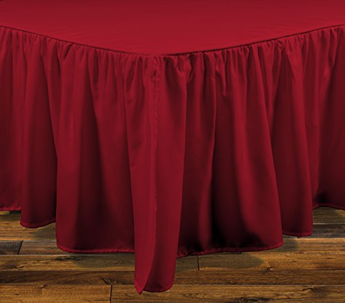 Brielle Essentials Bedskirt, Queen, Red (Brille Vs Brille)